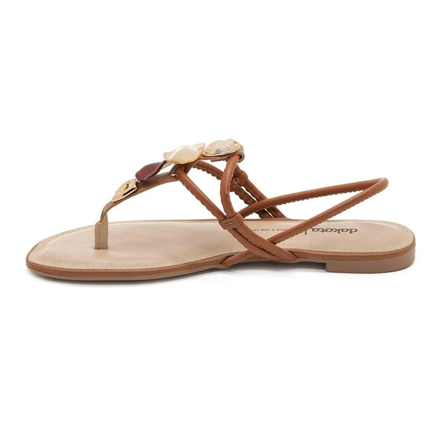 Sandalia Rasteira Dakota Z8622 - Mascavo