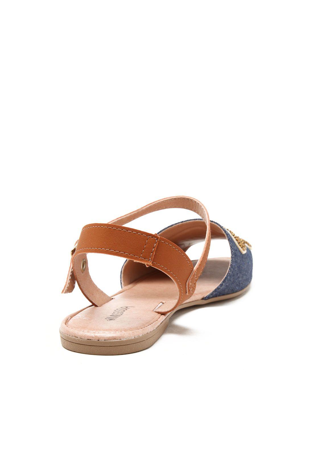 Sandalia Rasteira Mississipi X7691 - Jeans