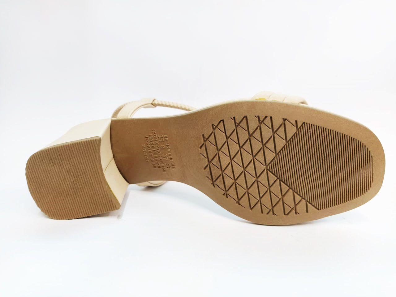 Sandalia Salto Grosso Dakota Z6411 - Branco/Mascavo