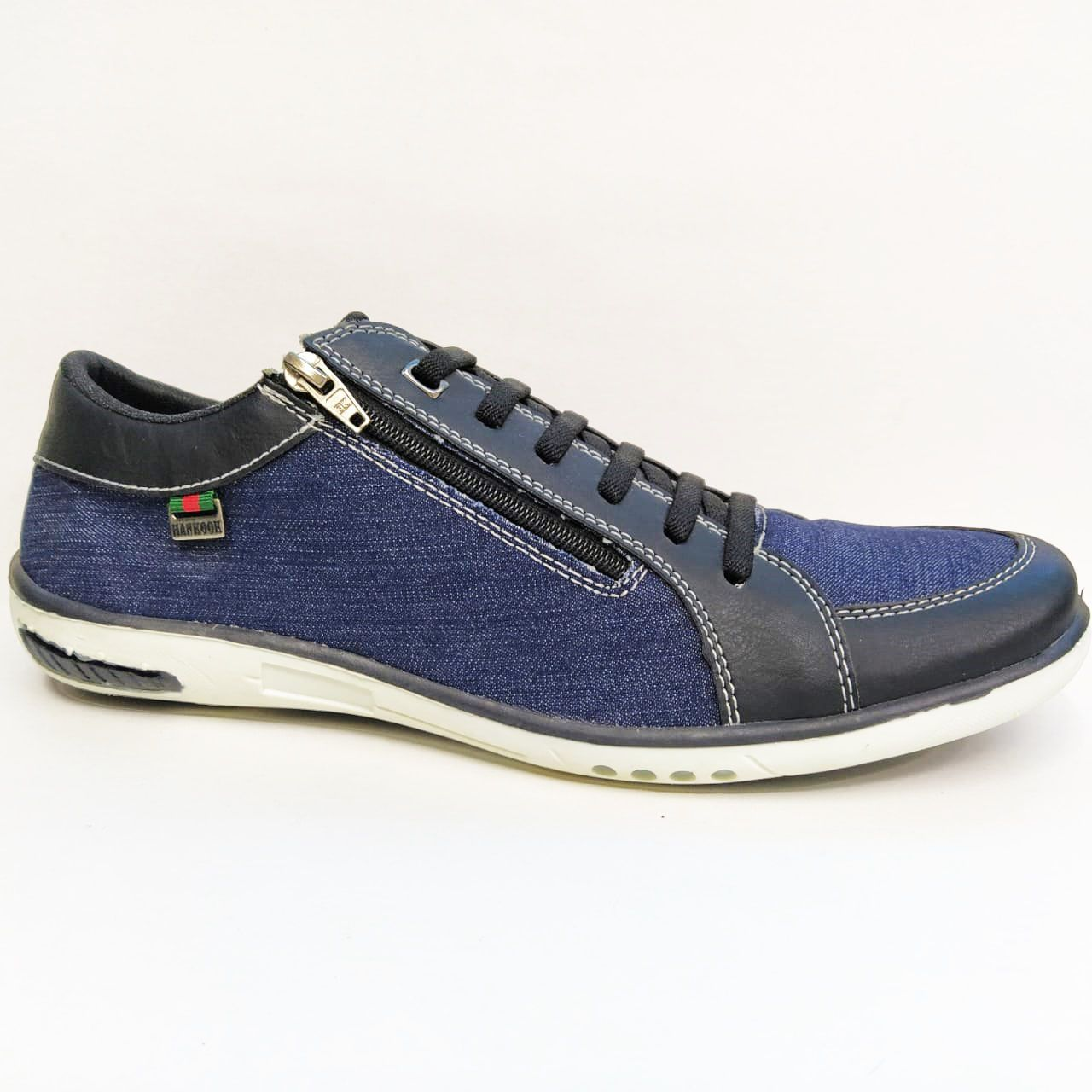 Sapatênis Masculino Hankook 12712 - Jeans / Preto