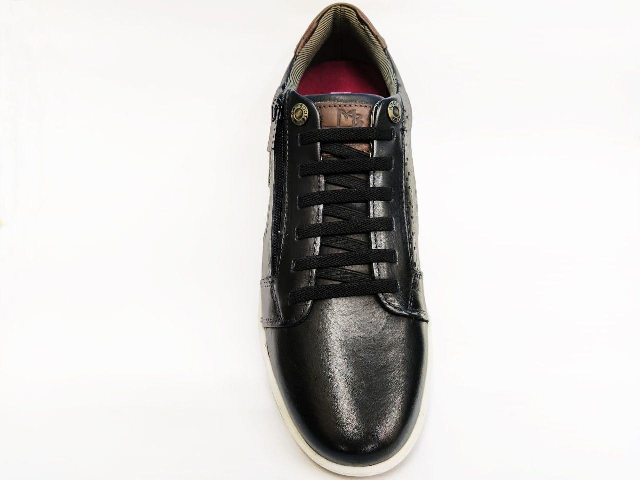Sapatenis Masculino Mega Boots 15037 - Preto/Café