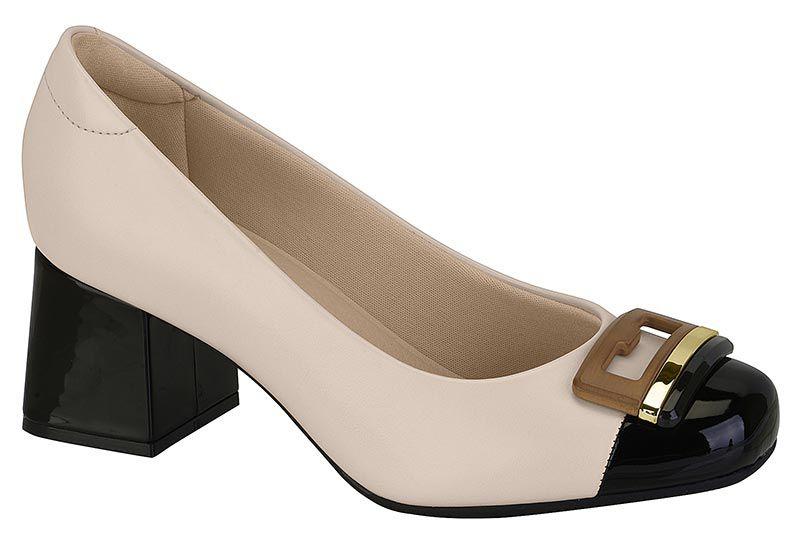 Sapato Feminino Modare 7352.102  - Creme / Preto