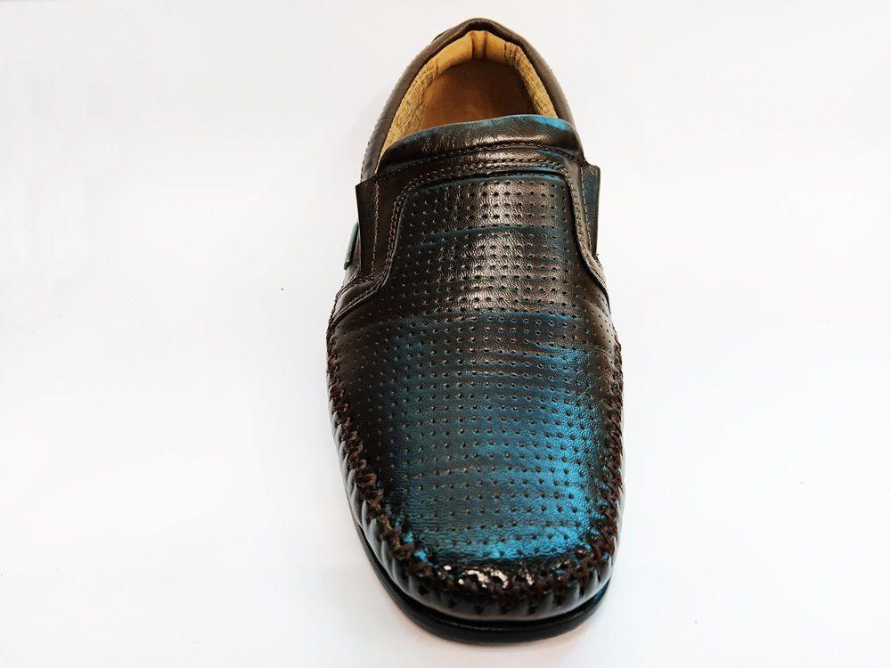 Sapato Mocassim em Couro Rafarillo 19005 - Castanho