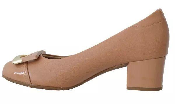 Sapato Salto Baixo Modare 7316.107 - Nude