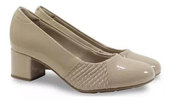 Sapato Salto Baixo Modare 7316.108 - Bege