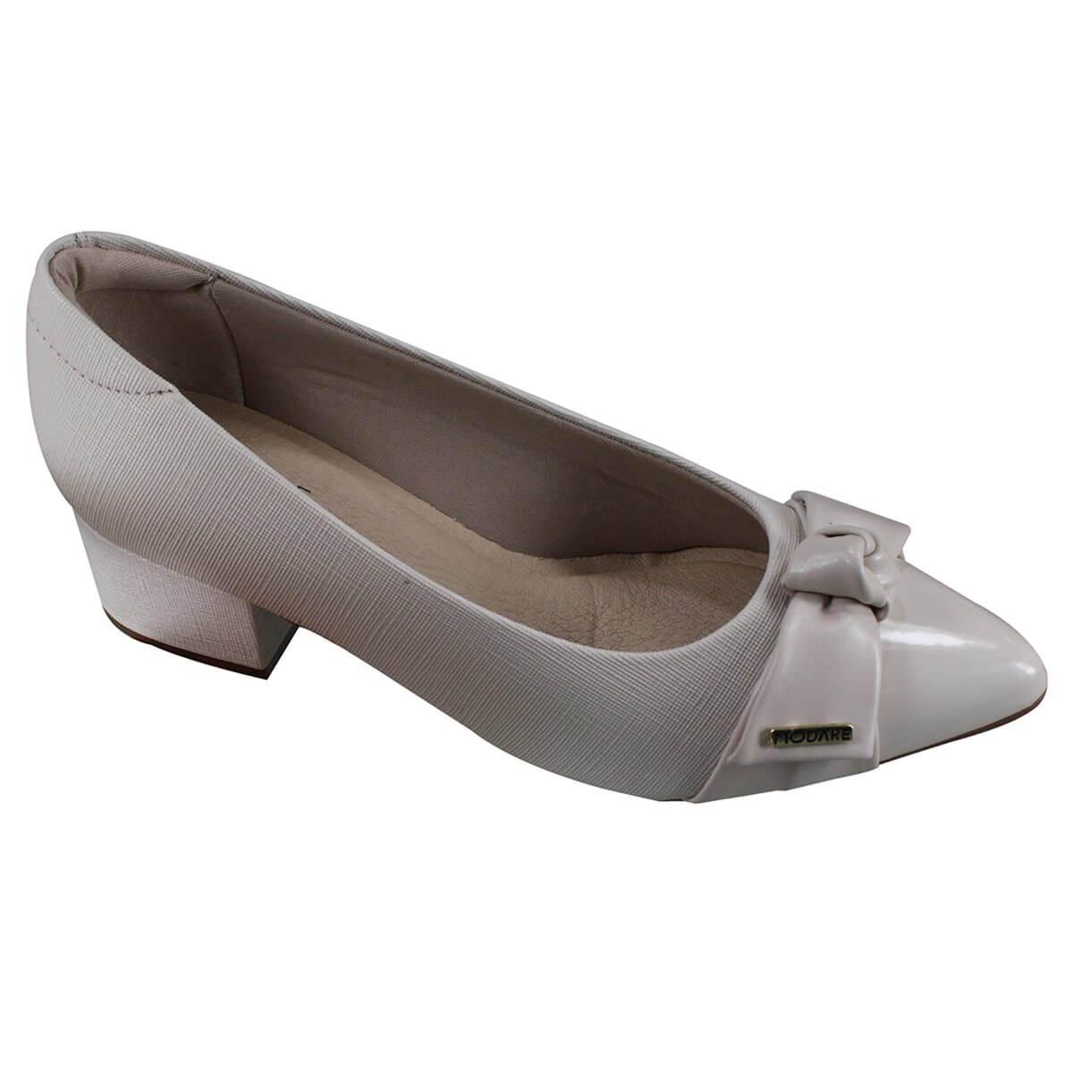 Sapato Salto Baixo Modare 7340.102 - Creme