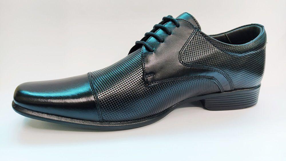 Sapato Social Masculino em Couro Rafarillo 34001 - Preto