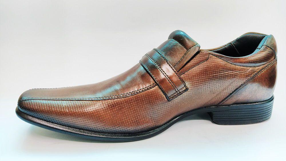 Sapato Social Masculino em Couro Rafarillo 34004 - Mogno