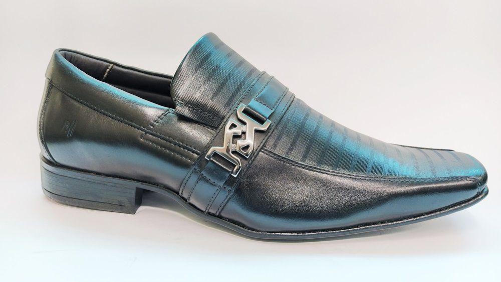 Sapato Social Masculino em Couro Rafarillo 6605 - Preto