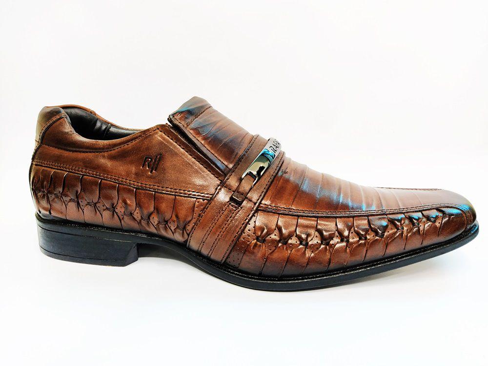 Sapato Social Masculino em Couro Rafarillo 79246 - Mogno