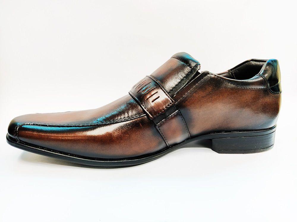 Sapato Social Masculino em Couro Rafarillo 79166 - Mogno