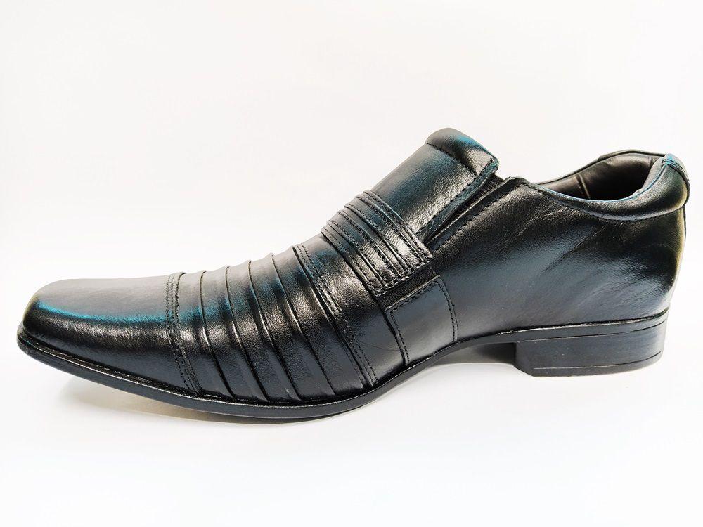 Sapato Social Masculino em Couro Rafarillo 79260 - Preto