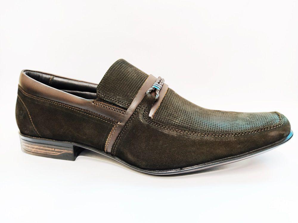 Sapato Social Masculino em Couro Rafarillo 9788 - Café