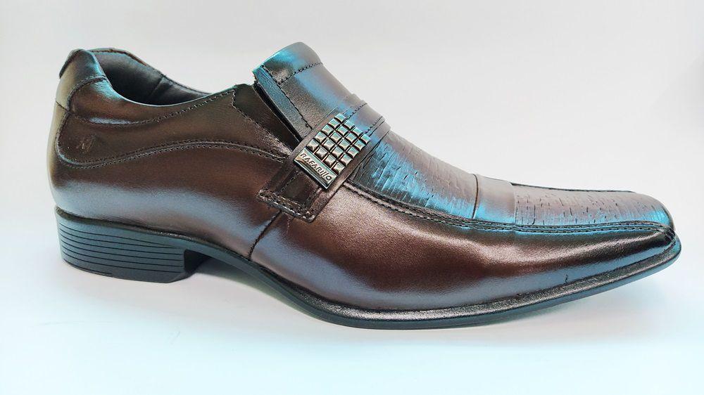 Sapato Social Masculino Números Especiais Rafarillo 34012 - Mogno