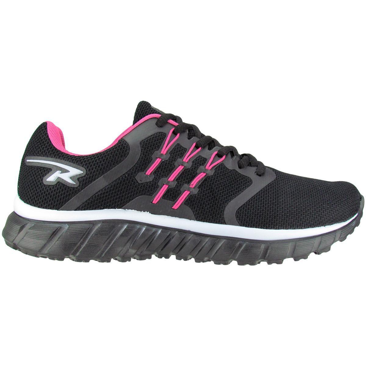 Tênis Feminino Rekoba L032 - Preto / Pink