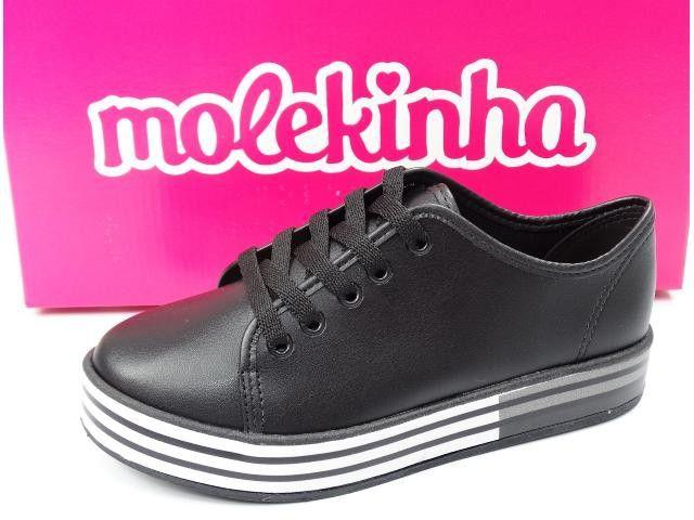 Tênis Infantil Feminino Molekinha 2520.600  - Preto