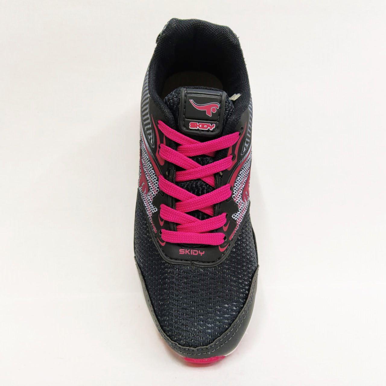 Tênis Infantil Feminino Skidy 206 - Preto / Pink