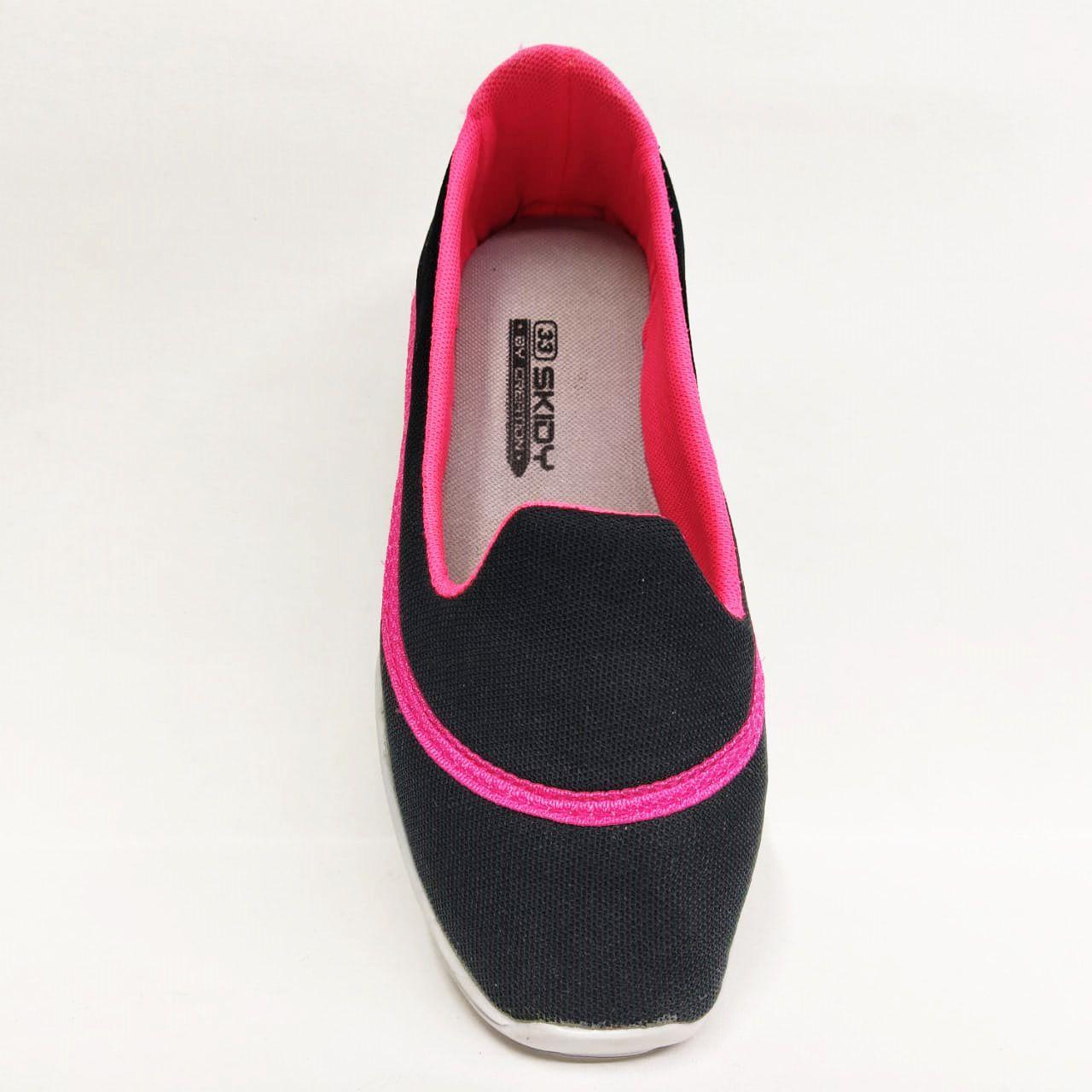 Tênis Infantil Feminino Skidy R23 - Preto / Pink