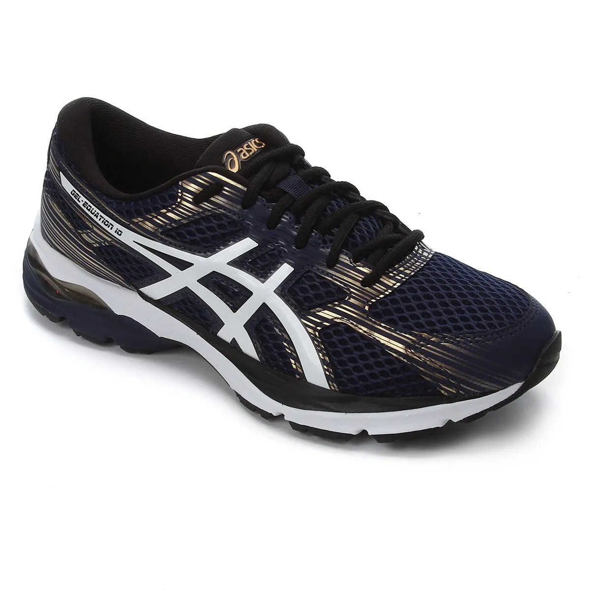 Tenis Masculino Asics Gel Equation 10 - Marinho/Ouro