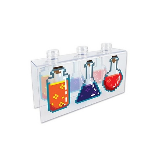 Vaso de parede 3 frasco experimento