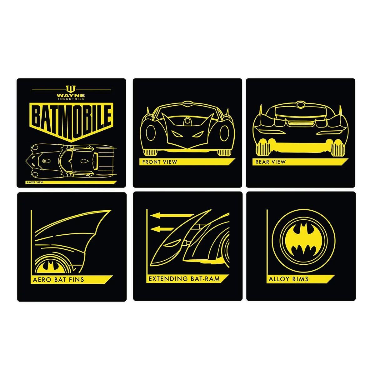 6 Porta copos Batman