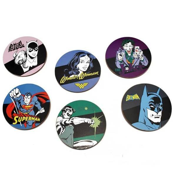 6 Porta Copos Capas DC Comics