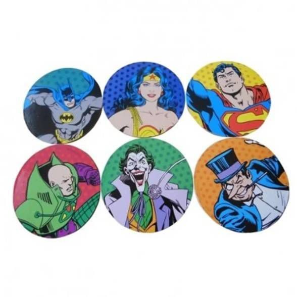 6 Porta Copos Super Heróis Colorido