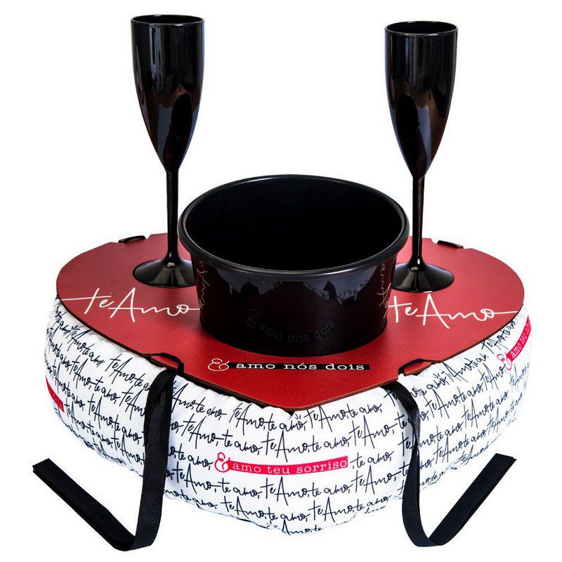 Almofada Balde Champagne  Te Amo Te Amo