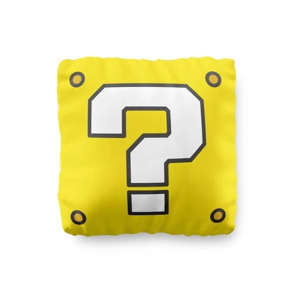 Mini Almofada - Bloco Interrogação - Super Mario