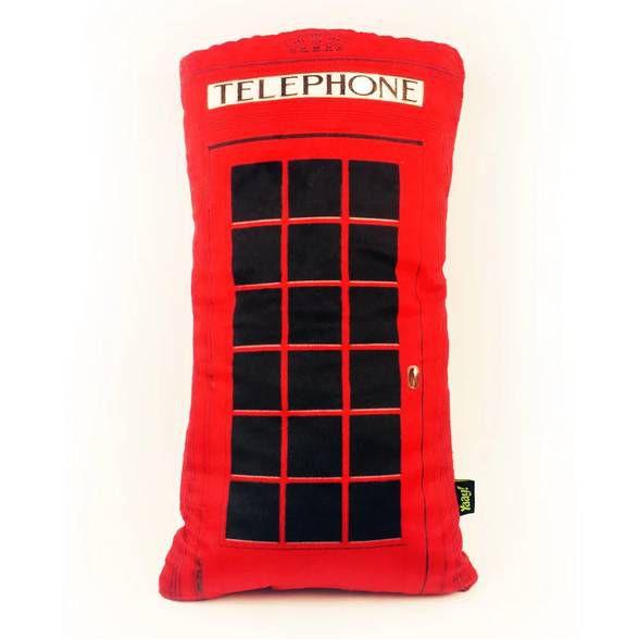 Almofada de Pelúcia Cabine Telefônica - London Telephone