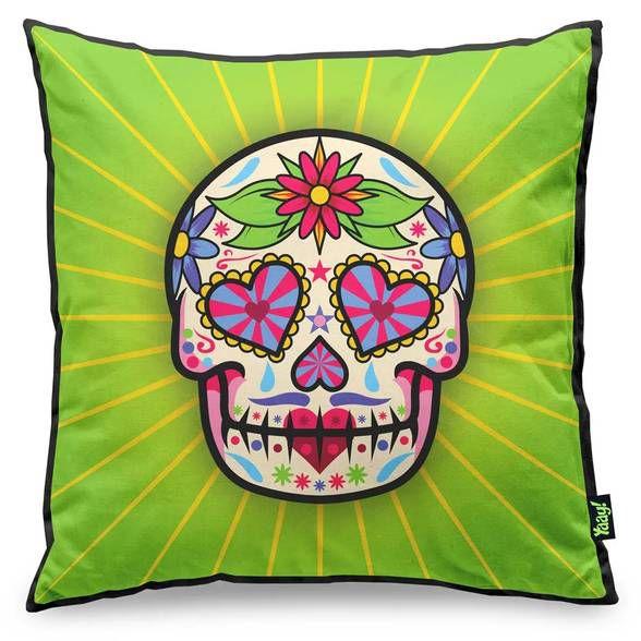 Almofada Dia de Los Muertos - Verde