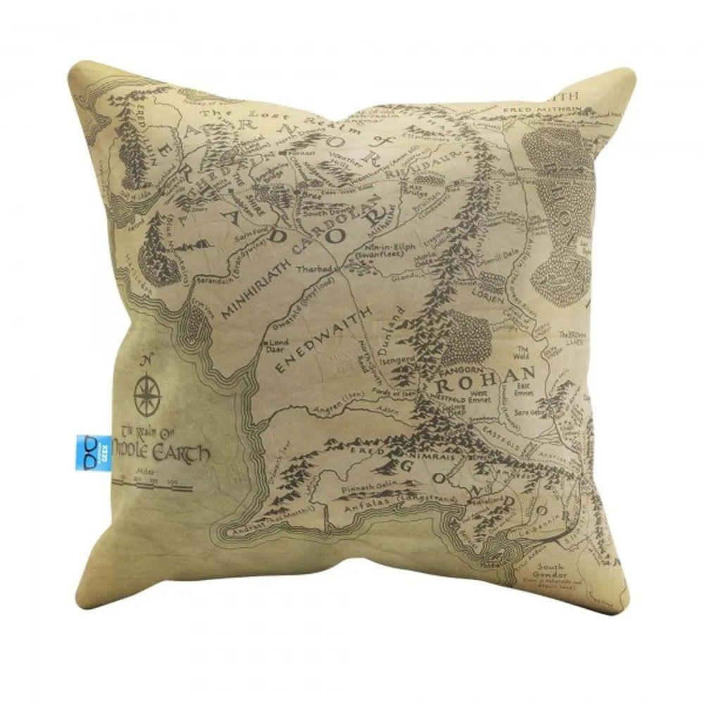 Almofada do Mapa do Senhor dos Anéis