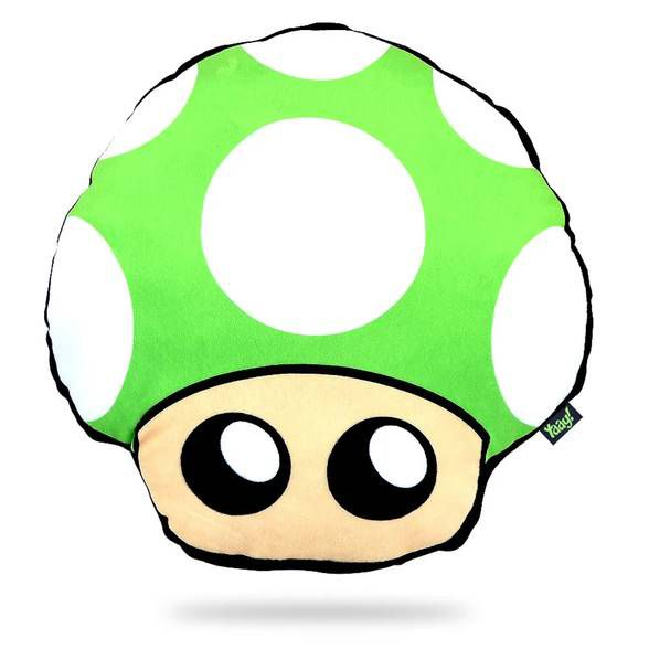 Almofada Pelúcia Cogumelo - verde