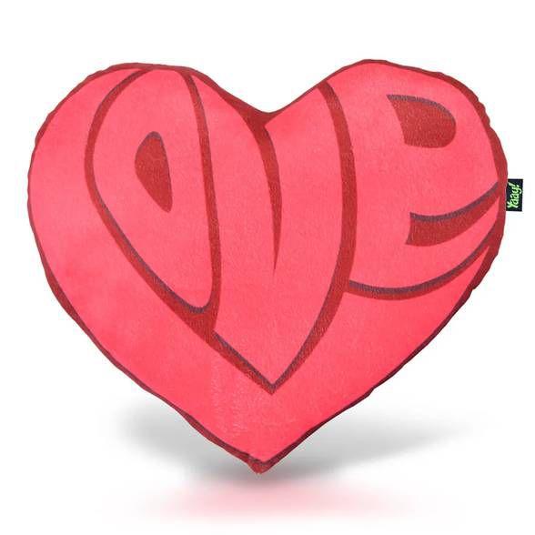 Almofada Pelúcia Coração Love