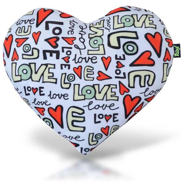 Almofada Pelúcia Coração Textura Love