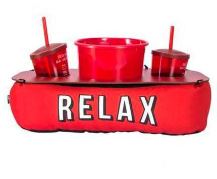 Almofada Porta Pipoca com Roleta - Relax