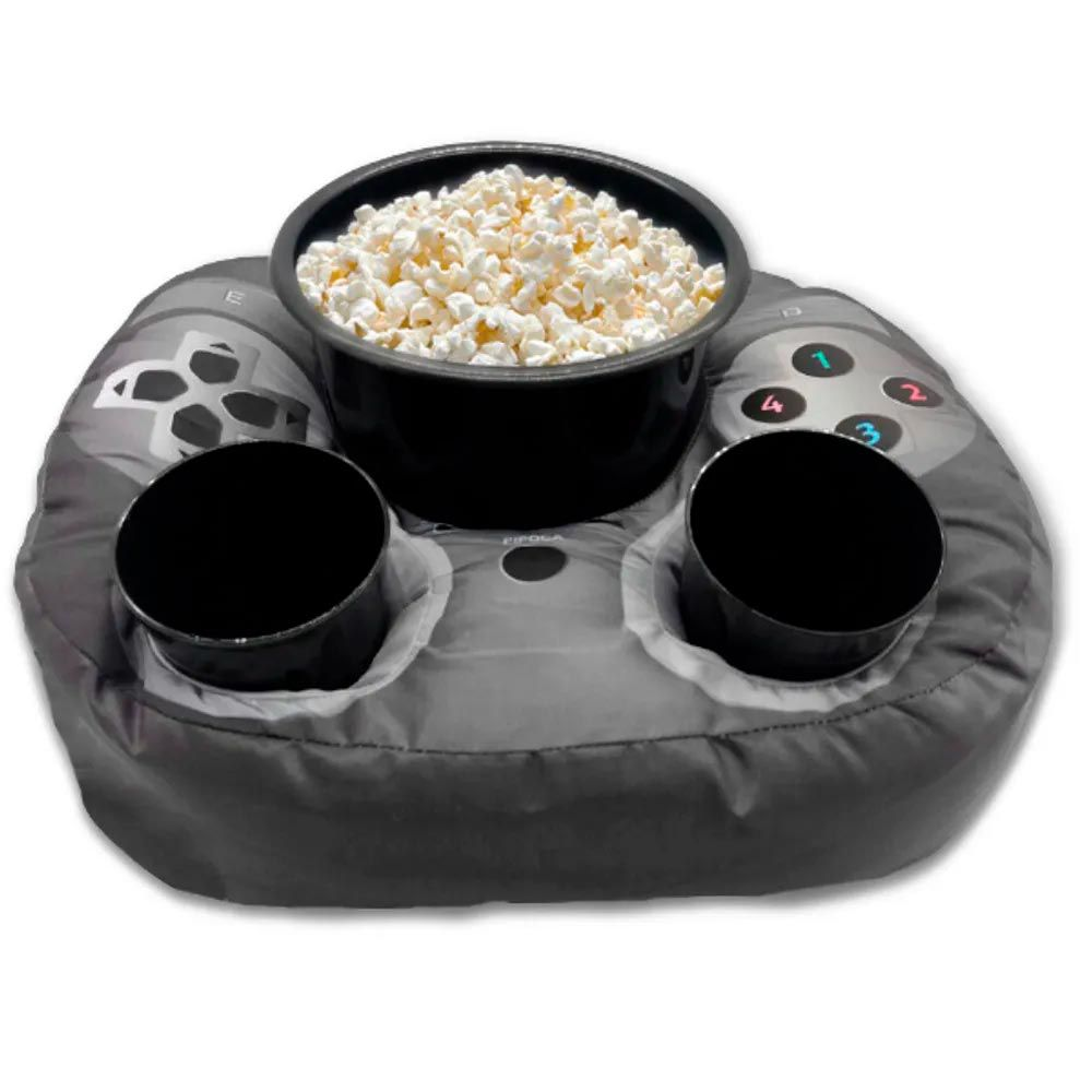 Almofada Porta Pipoca controle de videogame