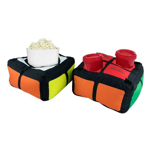 Almofada Porta Pipoca Cubo Mágico