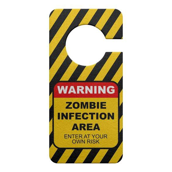 Aviso de Porta Ecológico Zombie Infection Area
