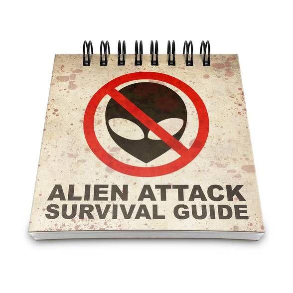 Bloco de Anotações Alien Attack Survival Guide