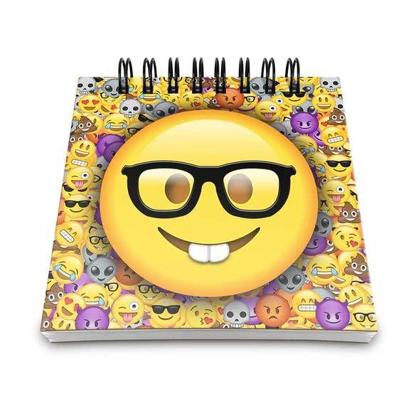 Bloco de Anotações Emoticon - Emoji Nerd Geek