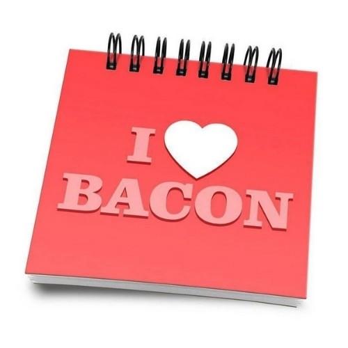 Bloco de Anotações I Love Bacon
