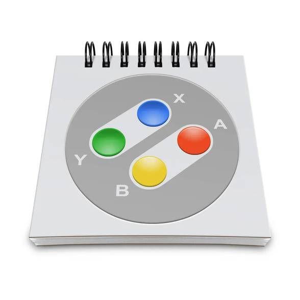 Bloco de Anotações Joystick 16-bits Colo