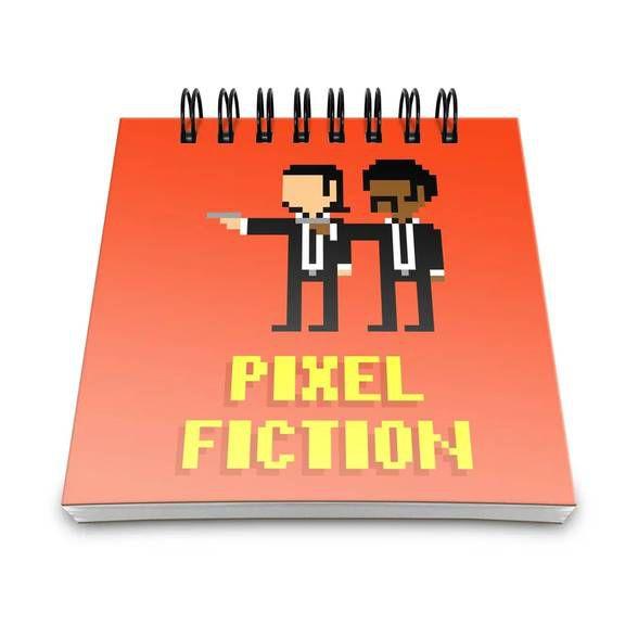 Bloco de Anotações Pixel Fiction