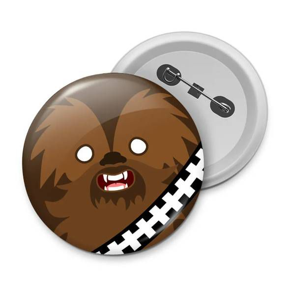 Botton Geek Side Faces - Chill Bacca