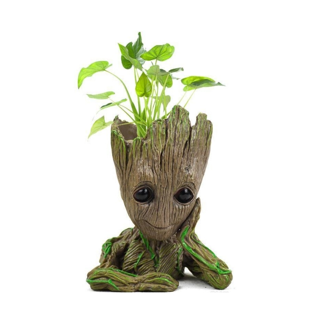 Cachepô Groot pensativo