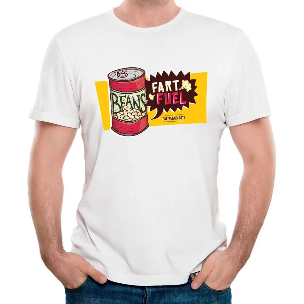 Camiseta Coma Feijão Todos os Dias Branca