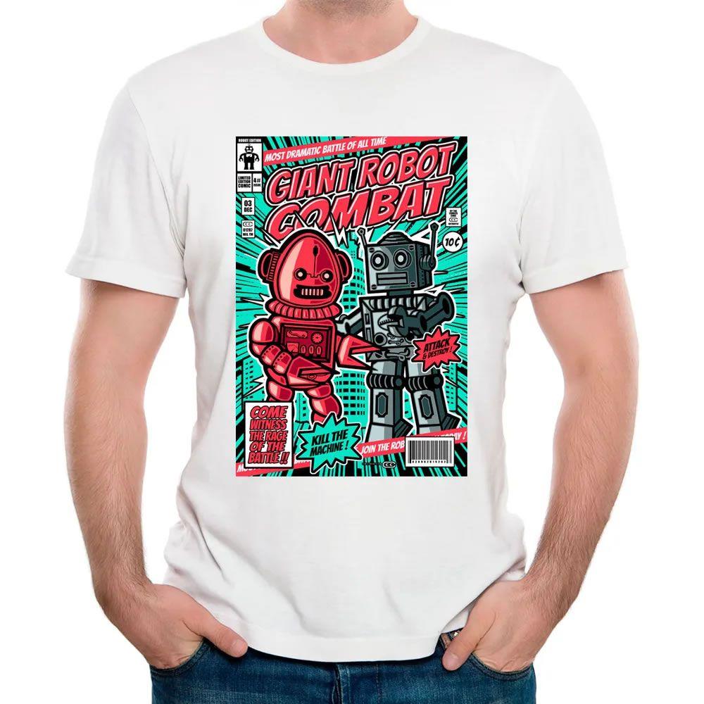 Camiseta Combate de Robôs Gigantes Branca