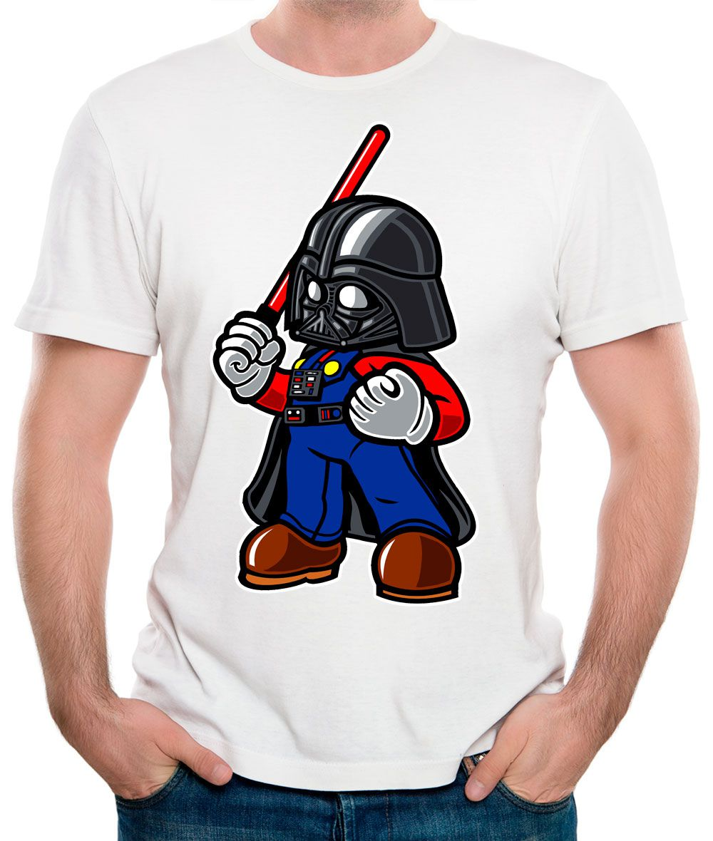 Camiseta Darth Plumber Branca