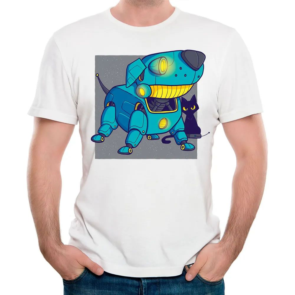 Camiseta Dog Robot Branca